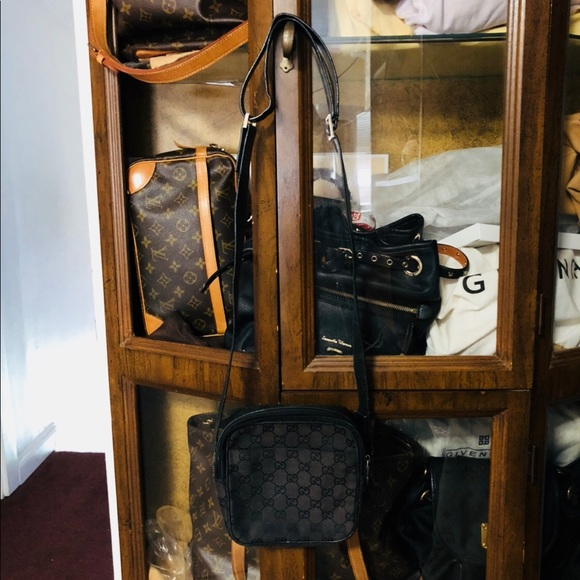 Authentic Gucci Mini Sling Bag Black Canvas